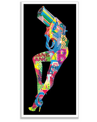 """""""Let's Bang"""" Flocked Blacklight Screen Print by Tristan Eaton"""