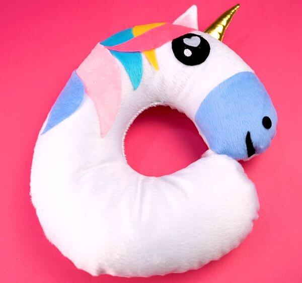 Almofada De Pescoco Unicornio Com Molde Criatividade