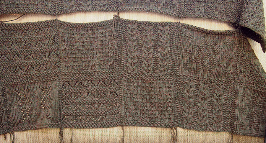 How to mattress stitch afghan squares together -- Rowan Mystery Martin Storey Afghan KAL I finishing tips