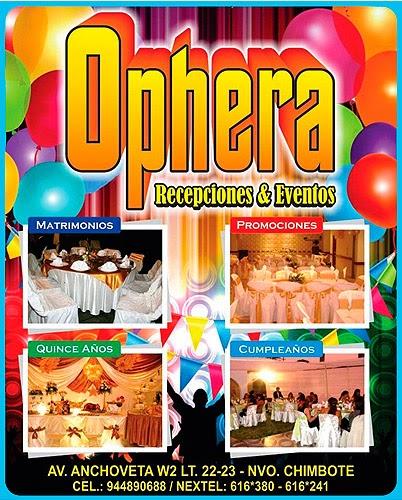 OPHERA – EVENTOS Y RECEPCIONES