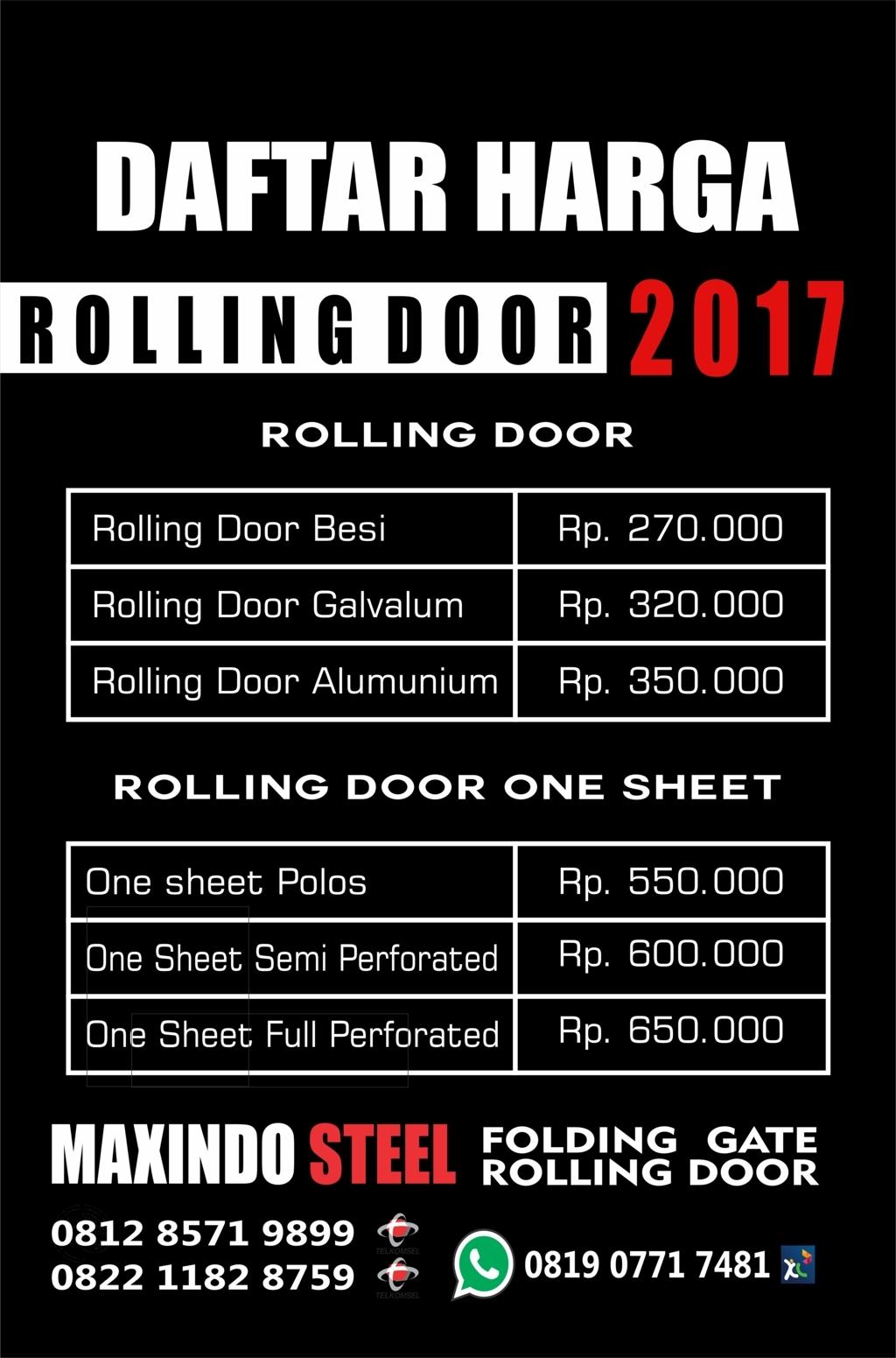 DAFTAR HARGA ROLLING DOOR DAN FOLDING GATE : FOLDING GATE JAKARTA ...