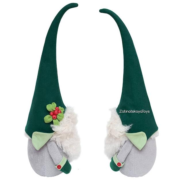 two large Christmas gnomes by sewing patterns of Zatinatskaya Natalia