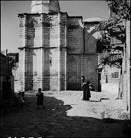The Kariye Camii (Monastery of Christ in Chora or Chora Monastery). The western end of the southern facade, March 1937 [Credit: © Nicholas V. Artamonoff Collection, Image Collections and Fieldwork Archives, Dumbarton Oaks]