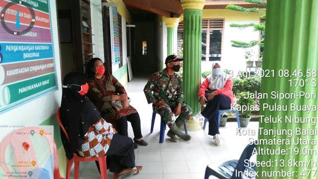 Jalin SIlaturahmi, Personel Jajaran Kodim 0208/Asahan Laksanakan Komsos Dengan Pegawai Kelurahan