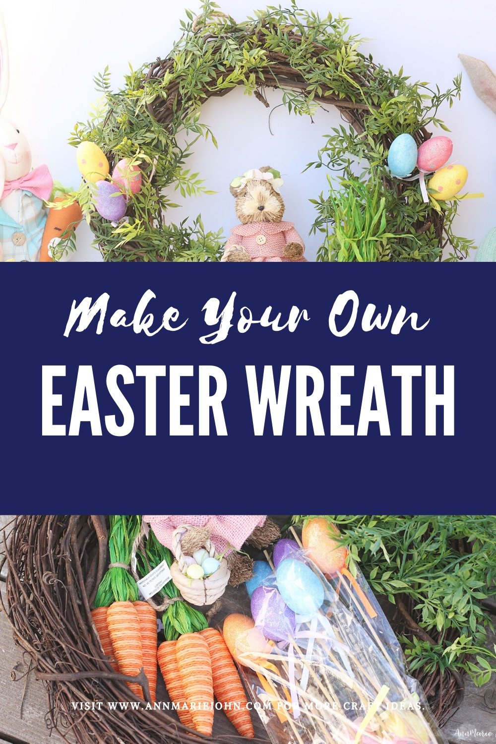 Make Your Own Easter Bunny Wreath