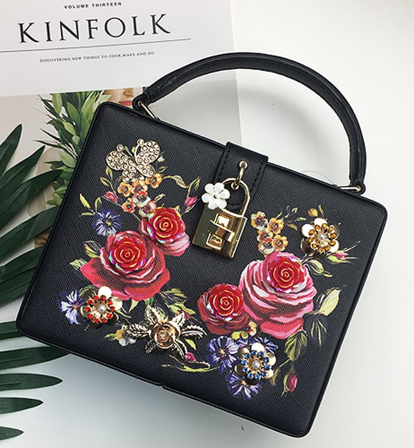 Women's Bohemian 3D Roses Embroidered Bag