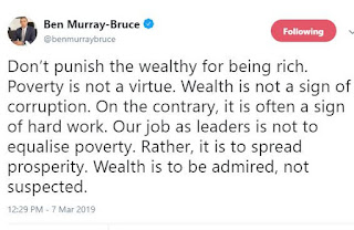 'Don't punish the wealthy for being rich, wealth is not a sign of corruption' - Senator Ben Bruce