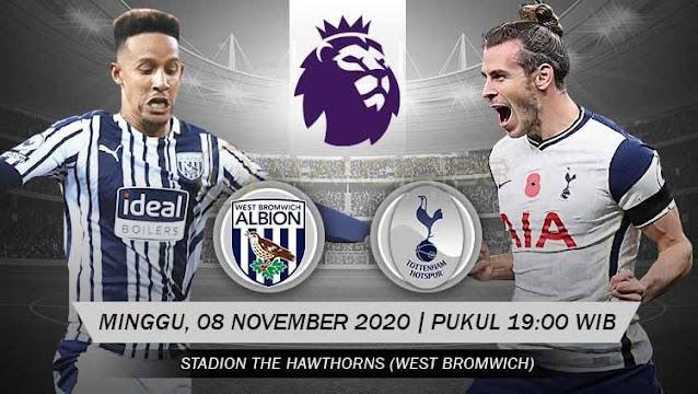 Prediksi West Bromwich Albion Vs Tottenham Hotspur, Minggu 08 November 2020 Pukul 19.00 WIB @ Mola TV