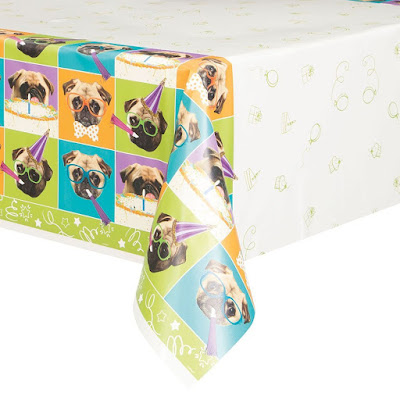 DIsney Puppy Dog Pals inspired party theme-pug tablecloth