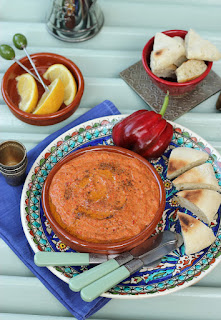 Muhammara (Red Pepper Walnut Dip)