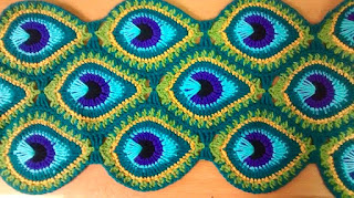 crochet peacock feather pattern free blanket instructions