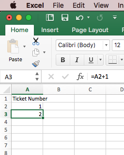 how to create tickets in word