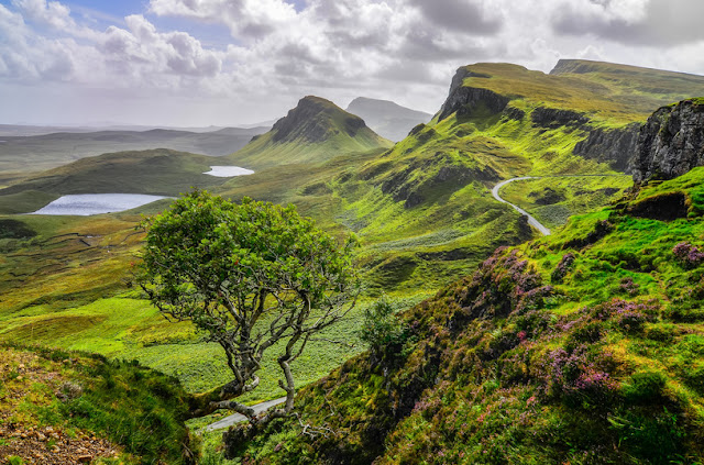 The vicinity of the Quiraing landslide was the setting for an animated film for children - Moniedism
