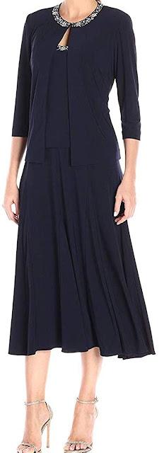 Elegant Navy Blue Mother of The Groom Dresses