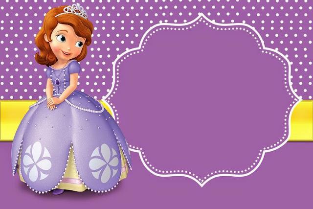 Invitación cumpleaños Princesa Sofía