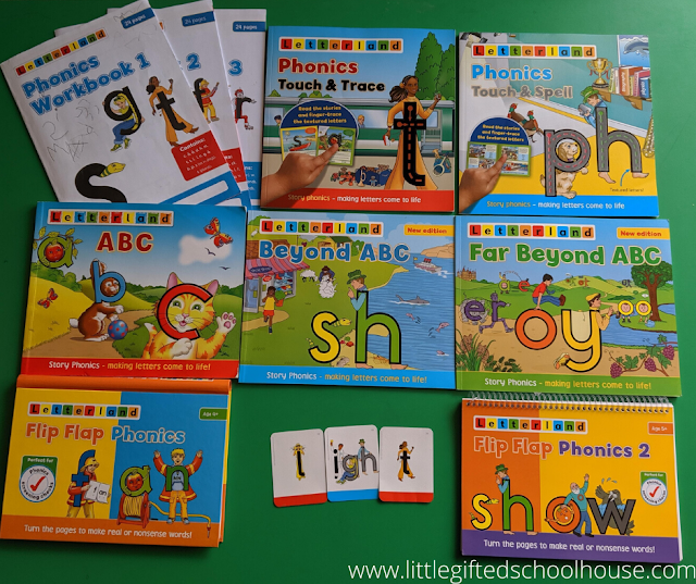 Letterland Materials we use with our Grade 1 curriculum and just generally