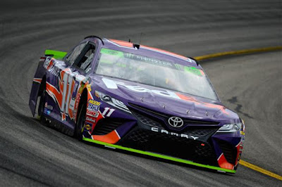 Denny Hamlin, driver of the #11 FedEx Office Toyota - #NASCAR