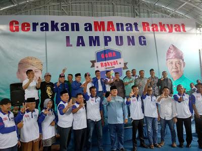 Gema Rakyat Lampung Siap Dukung Ridho-Bachtiar