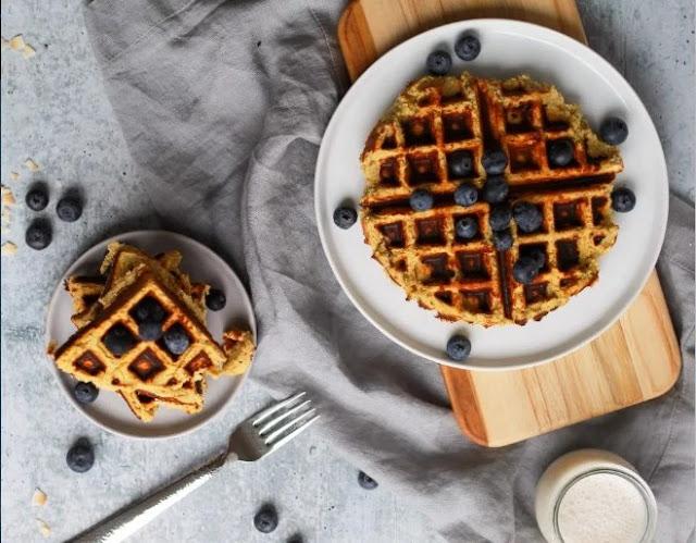 Sweet Potato Paleo Waffles #healthy #breakfast