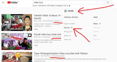 cara filter video youtube agar bisa melihat konten terbaru dengan kata kunci yang diinginkan