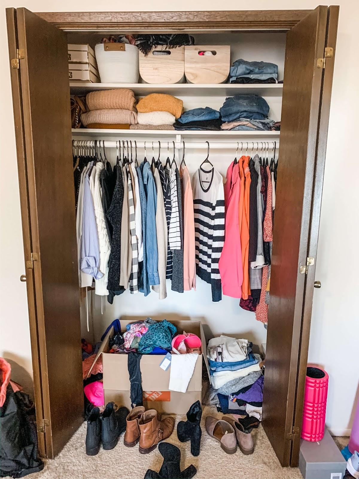 My messy bedroom closet