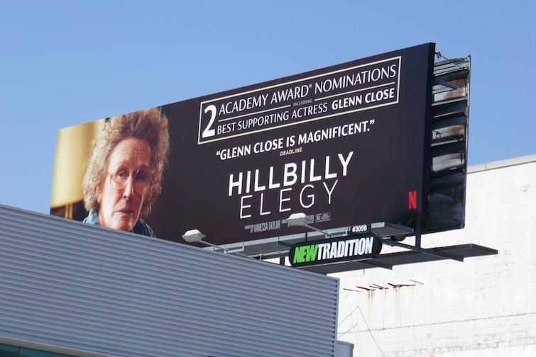 Hillbilly Elegy Oscar nominee billboard