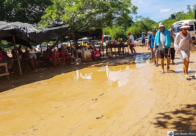 Acesso à Playa Blanca: caribe colombiano em Cartagena