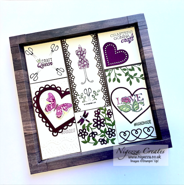 Come crafting with Jill & Gez Facebook Live Replay: Paper Frame & Sampler