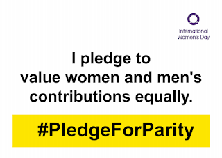 I pledge to value women and men's contributions equally