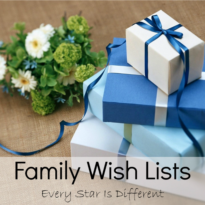 Family Wish Lists