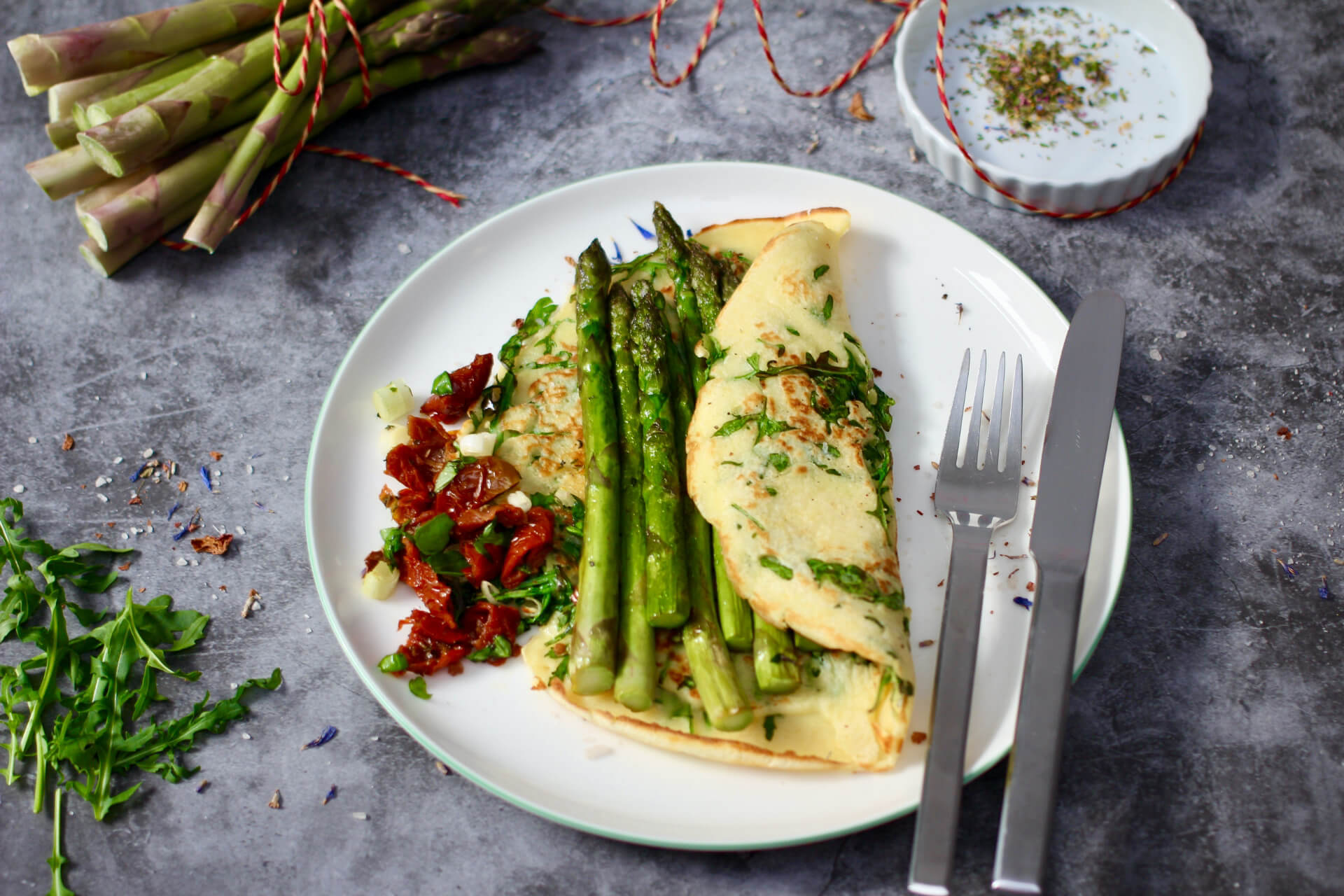 Spargel Crepes