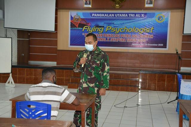 Lantamal X Adakan Pembinaan Psikologi Kepada Putra Putri Papua