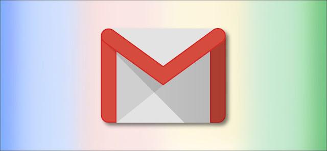 شعار Google Gmail على خلفية قوس قزح