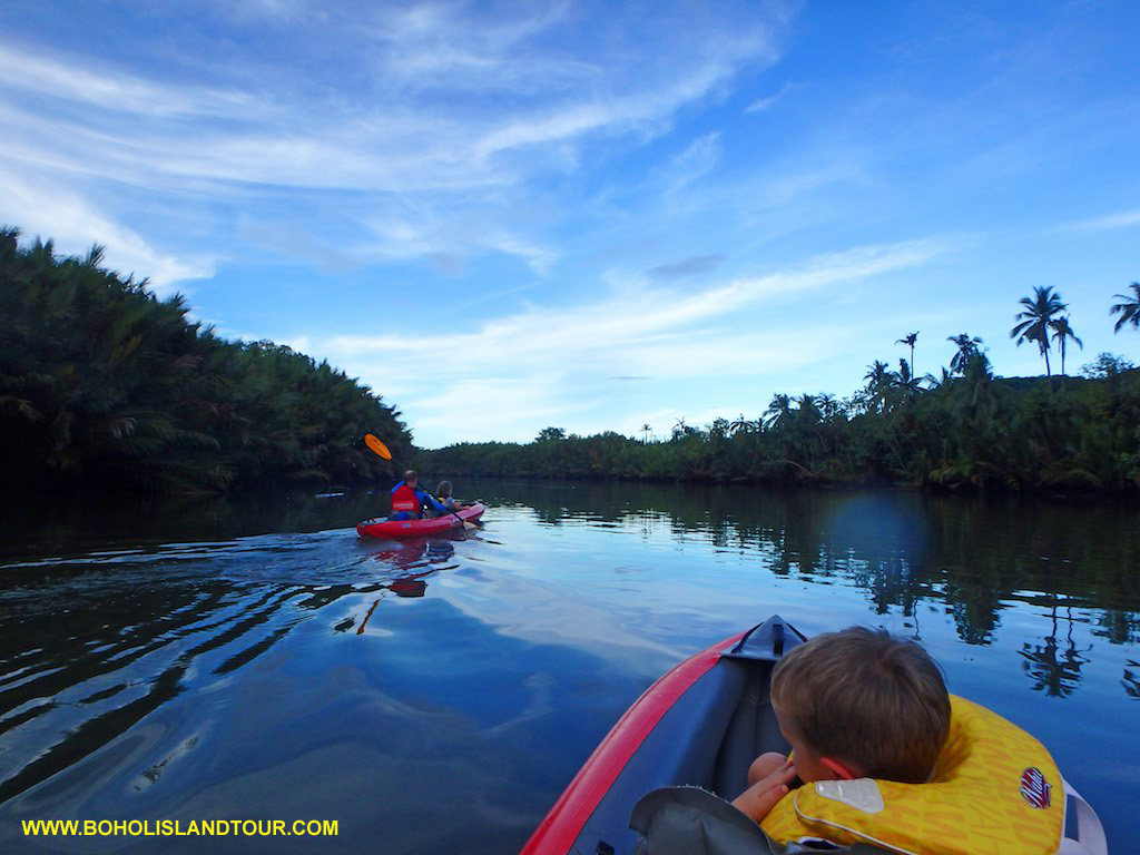 Abatan river kayaking Bohol