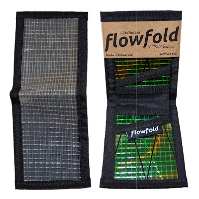 cartera resistente ligera billfold flowfold gris