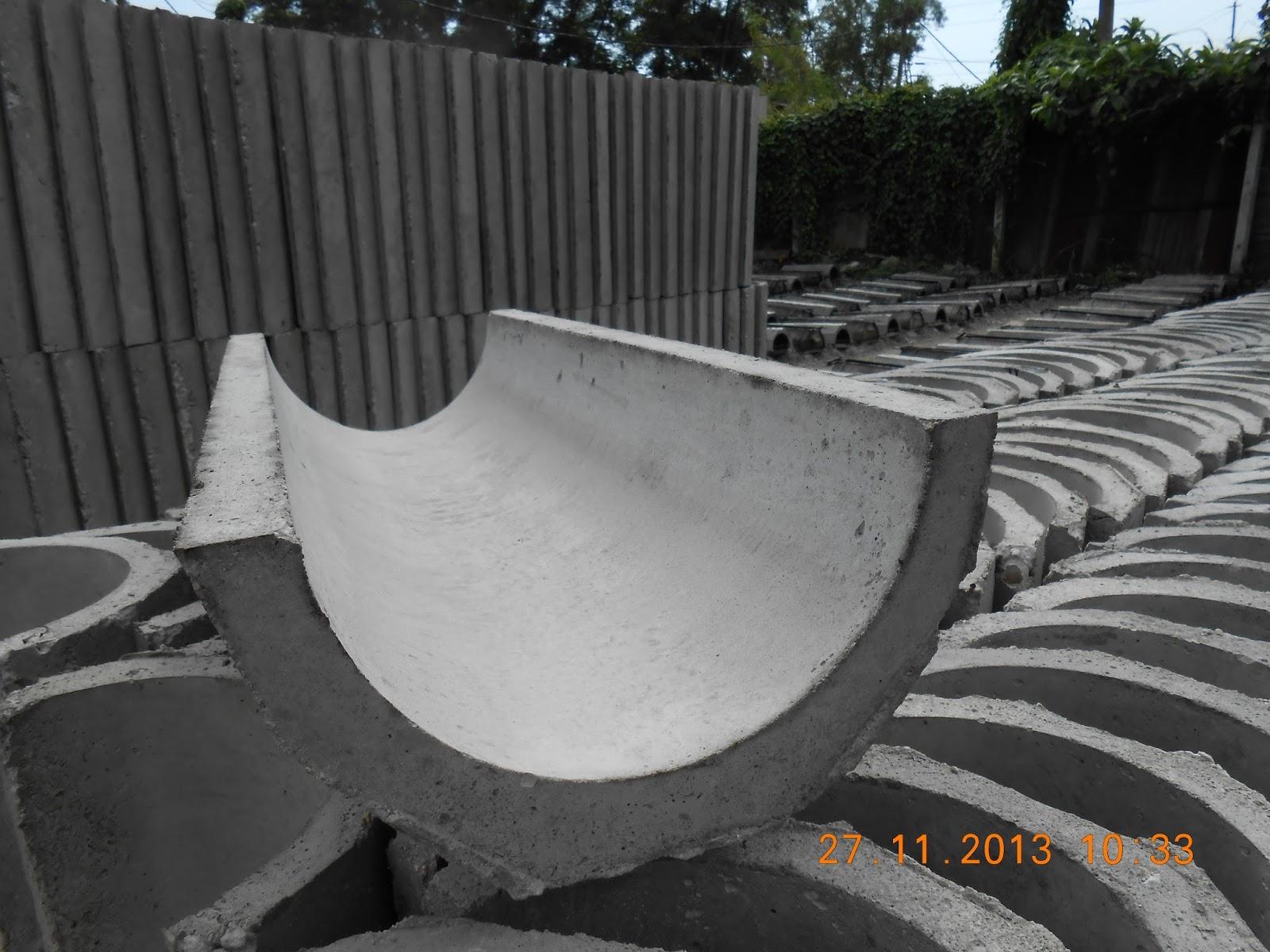 Precast Concrete Sewer Pipe : Precast half round drain malaysia