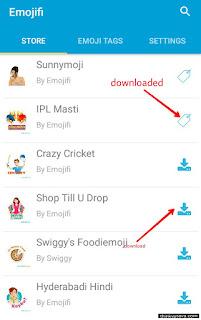 Store me emoji show honge unhe Download kar le