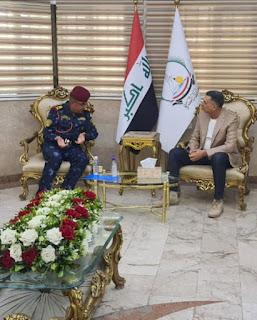 محافظ البصرة يلتقي قائد الفرقة الرابعة للشرطة الاتحادية