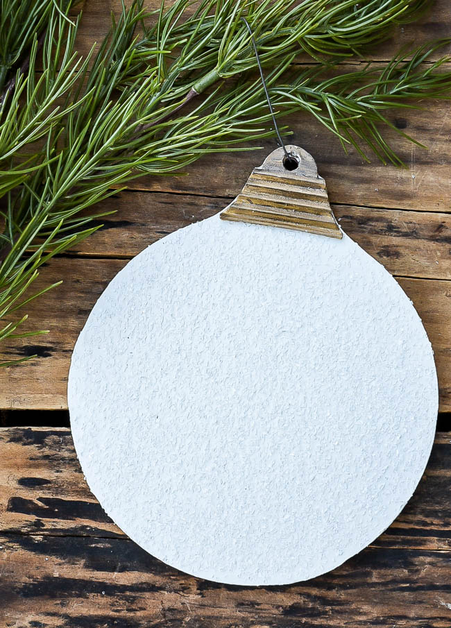 DIY vintage inspired Dollar Tree ornament