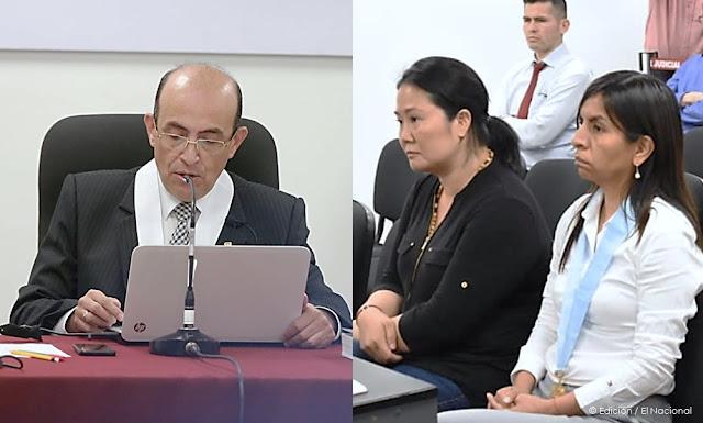 El juez Víctor Zúñiga Urday, Keiko Fujimori vuelve a prisión
