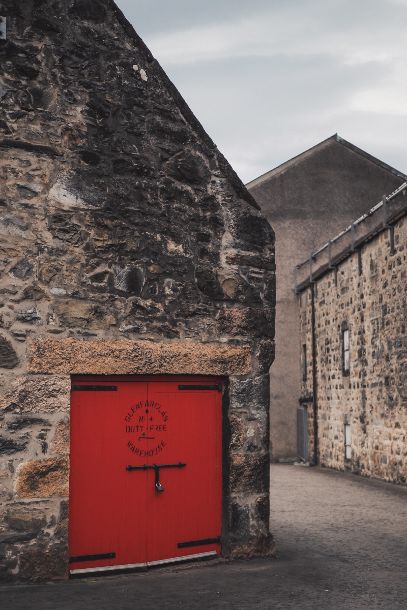 Visite de la distillerie de whisky Glenfarclas en Ecosse