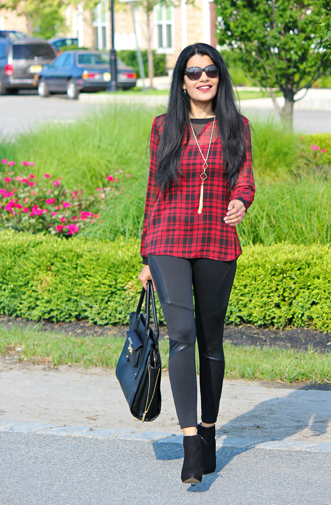 #SearsStyleFind, Plaid Looks For Fall, How To Style A Plaid Blouse, Plaid Looks
