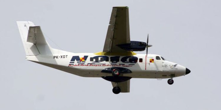 Pesawat N219 Lakukan Uji Terbang Perdana di Bandara Husein Sastranegara