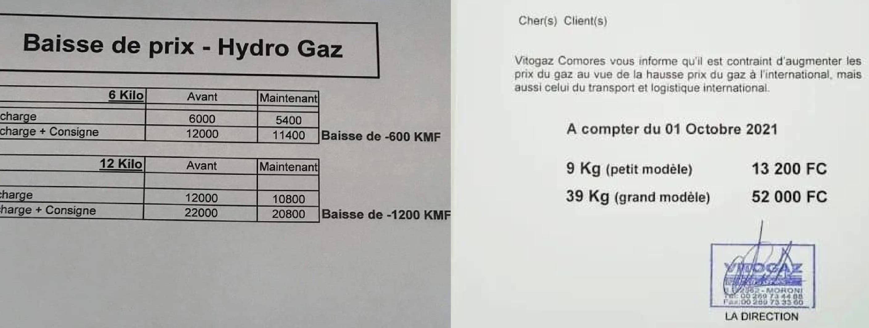 Hydro-Gaz baisse ses prix quand son concurrent Vitogaz les augmente !