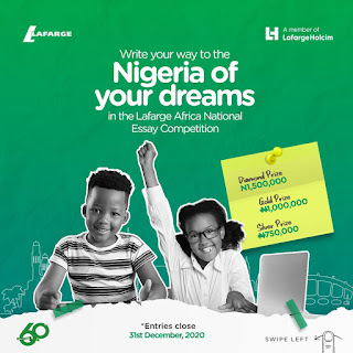 Lafarge Africa Plc National Essay Competition 2020 | N3m in Cash Prizes