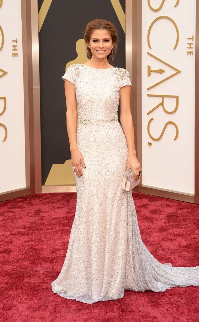 Maria Menounos in a sparkling Johanna Johnson gown at the Oscars 2014