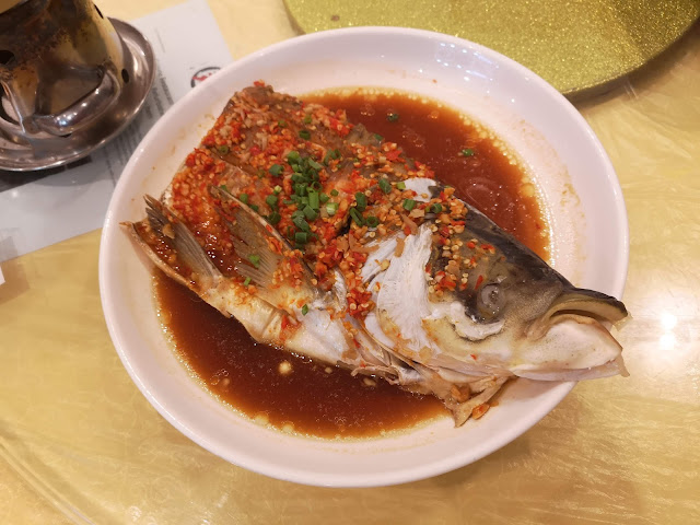 Steamed Fish Head with Homemade Chili