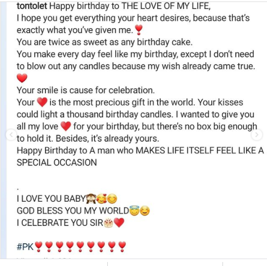 Thank you for making me a better woman– Tonto Dikeh celebrates birthday of her new lover (Photos)