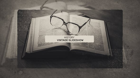 Vintage History Slideshow - After Effects Template