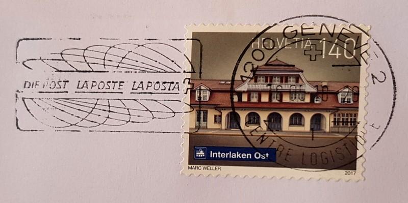 francobollo Interlaken Ost 2017